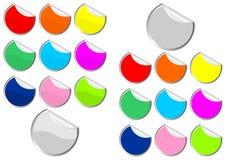 De stickers van Promo met krul Royalty-vrije Stock Fotografie