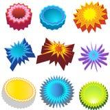 De Stickers van Starburst: 3D Bursters Royalty-vrije Stock Fotografie