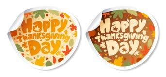De stickers van thanksgiving day. Stock Fotografie