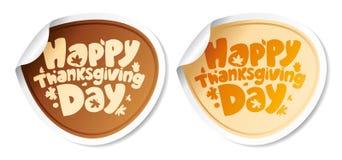 De stickers van thanksgiving day. Stock Afbeeldingen