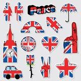 De stickers van Union Jack Royalty-vrije Stock Afbeelding