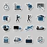 De Stickersinzameling van de vervoersdiensten Stock Foto