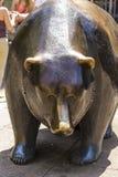 De stier en draagt Standbeelden bij de Beurs van Frankfurt Royalty-vrije Stock Fotografie