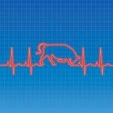 De Stier van het electrocardiogram Stock Afbeeldingen