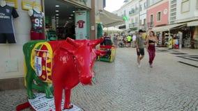 De stier van Lagos Portugal stock videobeelden
