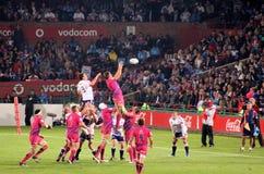 De Stieren Lineout Zuid-Afrika 2012 van het rugby stock afbeeldingen