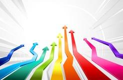 De stijgende pijlen van de regenboog Stock Foto's