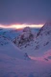 De Stijging 2010 Snowdon van de zon royalty-vrije stock afbeelding