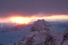 De Stijging 2010 Snowdon van de zon royalty-vrije stock foto's