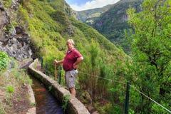 De stijging Madera van de Levadavallei stock afbeeldingen