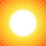 De stijging van de zon Stock Foto