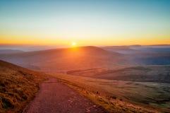 De stijging van het Breconbaken in Zuidelijk die Wales in November 2018 wordt genomen genomen in hdr royalty-vrije stock foto's