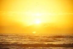 de stijging van de strandzon stock foto's