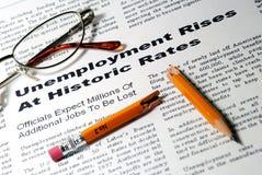 De Stijgingen van de werkloosheid Stock Afbeeldingen