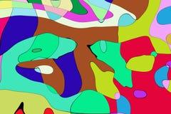 De stijl abstract artistiek art. van het illustratiebeeldverhaal Royalty-vrije Stock Afbeelding