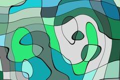 De stijl abstract artistiek art. van het illustratiebeeldverhaal stock illustratie