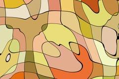 De stijl abstract artistiek art. van het illustratiebeeldverhaal Stock Afbeelding