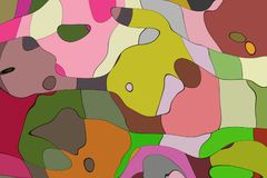 De stijl abstract artistiek art. van het illustratiebeeldverhaal Royalty-vrije Stock Fotografie