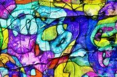 De stijl abstract artistiek art. van het illustratiebeeldverhaal Stock Fotografie