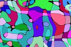 De stijl abstract artistiek art. van het illustratiebeeldverhaal Stock Foto's