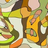 De stijl abstract artistiek art. van het illustratiebeeldverhaal Royalty-vrije Stock Afbeeldingen