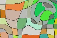De stijl abstract artistiek art. van het illustratiebeeldverhaal Royalty-vrije Stock Foto