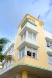 De Stijl Avalon van het art deco in het Strand van Miami stock afbeelding