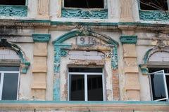 De stijl de Klassieke vensters van Europa bouw Royalty-vrije Stock Afbeelding
