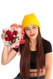 De stijl gelukkige vanlentine-19 van de vrouwen hib haardplaat Stock Foto's