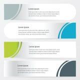 De stijl Groene, blauwe, grijze kleur van de krommebanner Stock Afbeelding