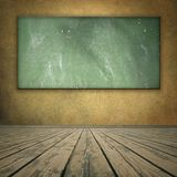De stijl grungy ruimte van Classrom met bord Royalty-vrije Stock Foto's