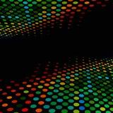 De stijl kleurrijke halftone van de disco Royalty-vrije Stock Afbeelding