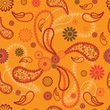 De stijl naadloos patroon van Paisley Stock Foto
