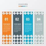 De stijl Oranje, blauwe, grijze kleur van de bannercontroleur Stock Fotografie