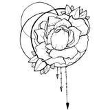 De stijl van de bloemets stock illustratie