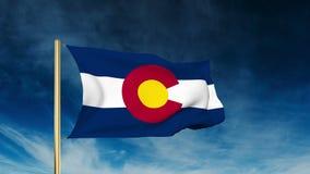 De stijl van de de vlagschuif van Colorado Het golven in de winst met stock videobeelden