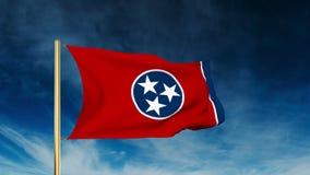 De stijl van de de vlagschuif van Tennessee Het golven in de winst stock footage