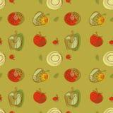 De stijl van de het patroontekening van de tomaat Stock Afbeeldingen