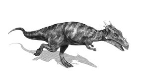De Stijl van de het Potloodtekening van de Dracorexdinosaurus Stock Afbeelding