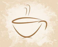 De stijl van de koffiekop grunge Stock Afbeeldingen