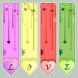 De stijl van de valentijnskaart Stock Foto