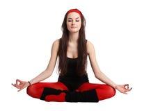 De stijl van de yoga Stock Foto