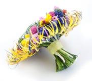 De stijl van het huwelijk - bruids boeket van tuinbloemen Royalty-vrije Stock Foto