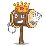 De stijl van het de mascottebeeldverhaal van de koningshouten hamer vector illustratie
