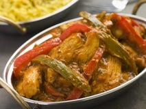De Stijl van het Restaurant van Jalfrezi van de kip stock foto