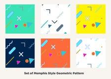 De stijl van Memphis van de Hipstermanier Royalty-vrije Stock Foto