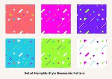 De stijl van Memphis van de Hipstermanier Royalty-vrije Stock Foto's