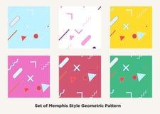De stijl van Memphis van de Hipstermanier Stock Foto