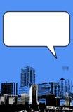 De stijl van Miami Florida grunge grafisch in blauw Stock Afbeeldingen