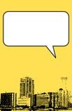 De stijl van Miami Florida grunge grafisch in geel Royalty-vrije Stock Foto